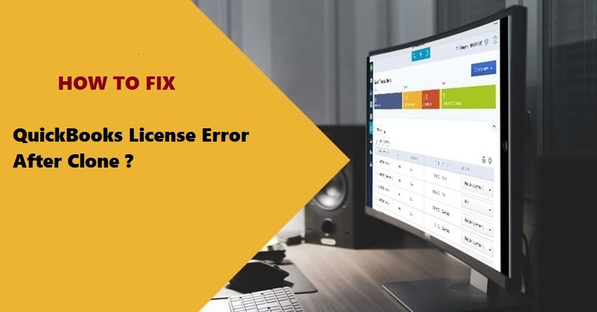 QuickBooks license error after clone