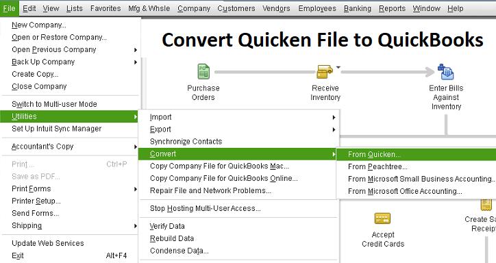 convert quicken file to quickbooks : Utilities Method