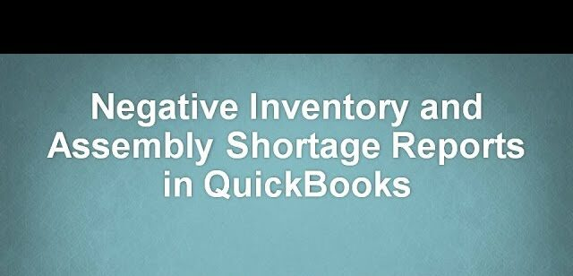 Quickbooks negative inventory Avoid it in easy steps