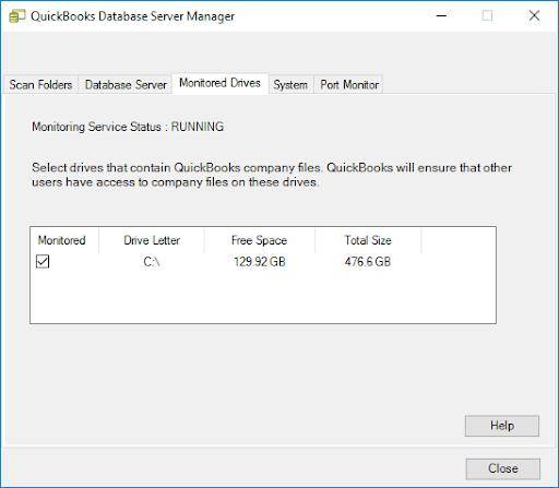 "Afterward, select ""Monitored Drive"""