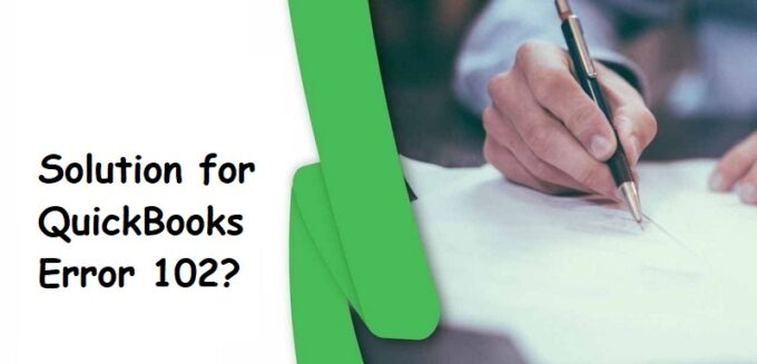 QuickBooks Online Error 102