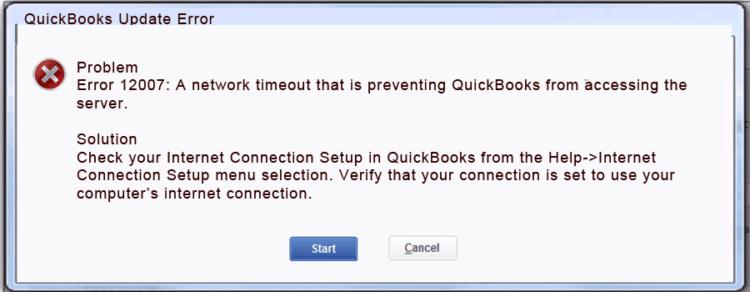 Reasons - QuickBooks Update Error 12007