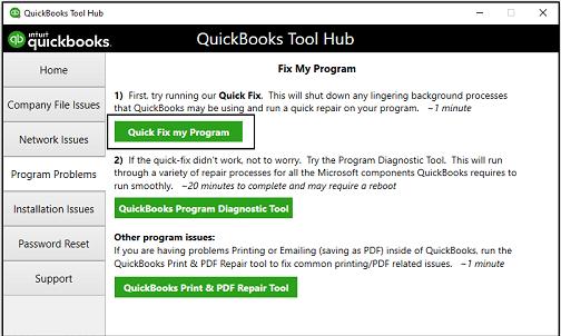 Quick fix my program