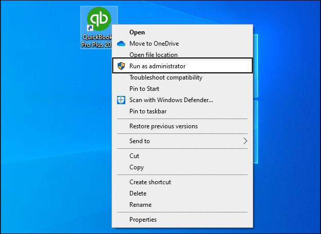 error 15240 QuickBooks : Run QuickBooks as admin