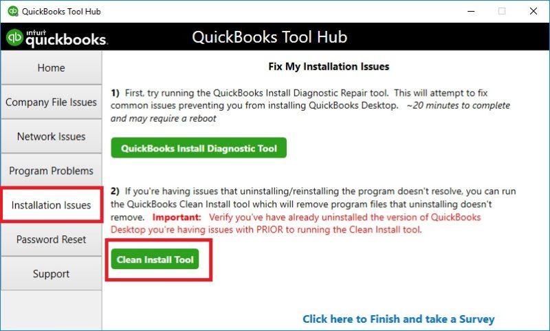 Clean install tool   quickbooks tool hub