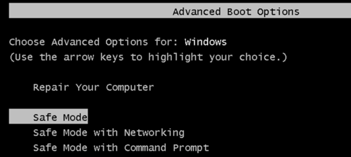 Windows Reset In Safe Mode