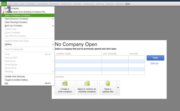 """""""Open\Restore Company"""