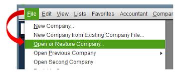 QuickBooks error 6073 : open or restore company